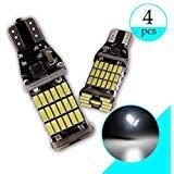 Grandview 4pcs Blanc T15 LED Canbus 4014 45-SMD W16W 901 921 955 T15 LED Remplacement Canbus Pour Ampoules de Rechange de Secours de Voiture (DC 9-28V)