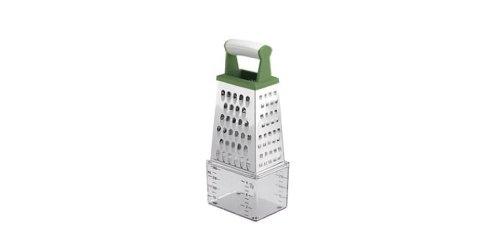 Tescoma 643788 RALLADOR 4 CARAS CON DEPOSITO MEDIDOR HANDY, Plástico