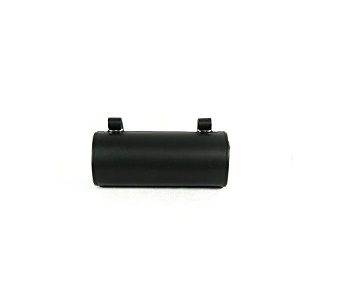 ROLL Hinten Sattel. Bike Bag fahrrad tasche. Gepäckträger. Fahrradgepäcktasche. Satteltasche, Fahrradtasche. Weinlese. Echtes Leder / Vero CUOIO. Farbe Schwarz. MADE IN ITALY (VIN_R_6C_N) (Leder Rahmentasche)