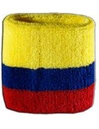 Digni® Poignet éponge avec drapeau Colombie, pack de 2