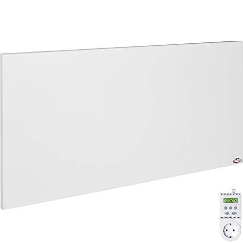 TecTake Pannello radiante riscaldamento a infrarossi infrarosso con staffa per il fissaggio a muro o soffitto - modelli differenti - (900 watt con thermostato TS05 | no. 401710)
