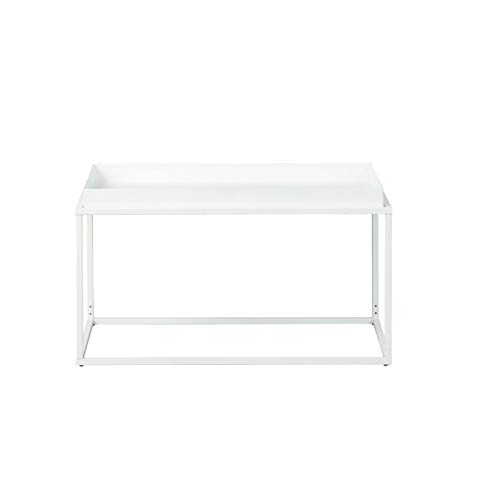 Paris Prix - Table Basse Design en Métal eza 80cm Blanc