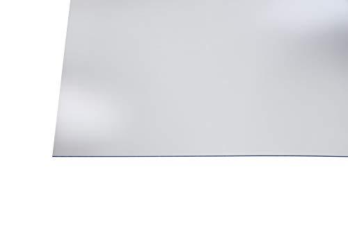 Kunststoff Bastelplatten glasklar 1000 x 500 x 2 mm zum Basteln, für Hinterglasmalerei, Möbelverglasungen, Modellbau (Spülmittel-methode Natürliche)