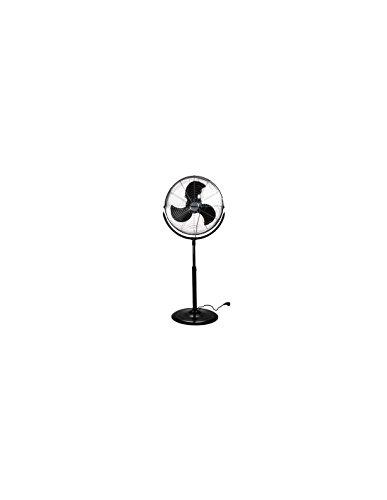 PEREL - CFANFS45N Standventilator, Metall, 45 cm Ventilator Durchmesser, 110 cm-130 cm Einstellbar Höhe, 220-240 VAC, 50 Hz, 45W 176433