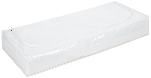 Wenko 3792711100 Unterbettkommode, Kunststoff Peva, 105 x 15 x 45 cm, transparent