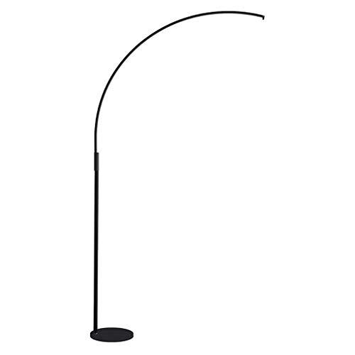Stehleuchte LED Augenschutz Vertikale Tischlampe Wohnzimmer Schlafzimmer Lesen Lange Arm Lampe Angeln Lampe. (Farbe : SCHWARZ)