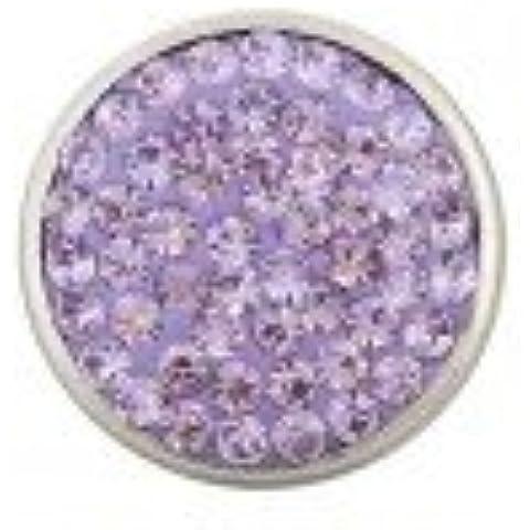 Light Purple Rhinestone Snap Button Chunk Charm