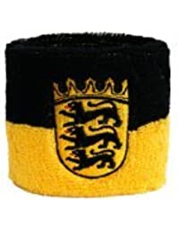 Digni® Poignet éponge avec drapeau Allemagne Bade-Wurtemberg, pack de 2