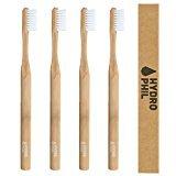 4er Sparpack nachhaltige Zahnbürste aus Bambus (natur) HYDROPHIL