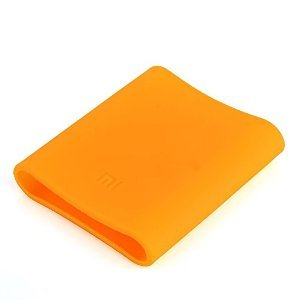 Mstick Soft Silicone Protector Case Cover for Xiaomi Mi 10400 mAh Power Bank ( Powerbank Not Included ) - Neon Orange  available at amazon for Rs.299