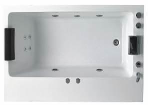 Art-of-Baan® – Whirlpool Badewanne Acryl Massage 1650x950x600 + Badenwannenverkleidung + Armatur - 4