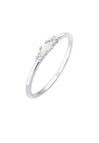 Elli Damen-Solitär Jahresring 925 Sterling Silber Opal 0602342718_54