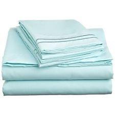 Dreamz Bedding- Fadenzahl 500 Blatt-Satz UK Super King Aqua aus 100% ägyptischer Baumwolle - Aqua-blatt-satz