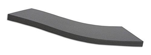 Dibapur ® Black: Orthopädische Kaltschaummatratze/Akustikschaumstoff - H2 - (90x200x6 cm) Ohne Bezug - Made in Germany -