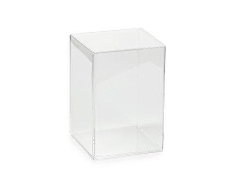 Vetrine in vetro acrilico (15 x 15 x 20 cm, nessun pavimento in feltro)