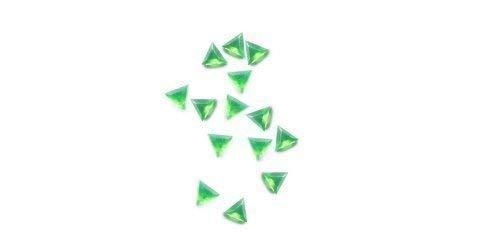 strass, forme triangulaire - environ 50 pièces 17 vert clair