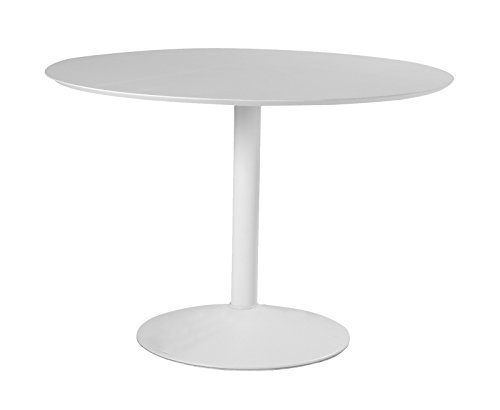 Esstisch rund weiss 110cm Essszimmer Tisch Küchentisch Küche Holz Metall