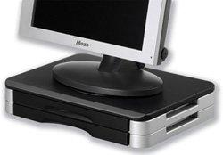 Compucessory Monitor/Druckerständer/CCS55321 schwarz/silber