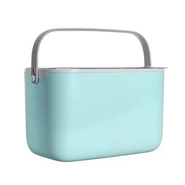 ExcLent Tragbare Babyflasche Aufbewahrungsbox Mit Griff Und Wäscheständer Klappe Staubdicht Babygeschirr Aufbewahrungsbox Kinderwagen Aufbewahrungstasche - Blau