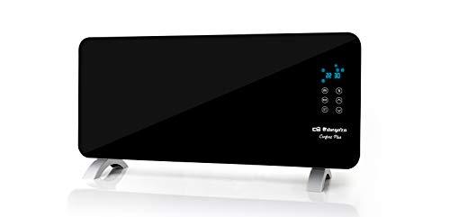 Orbegozo REH 2050 - Panel radiante con frontal de cristal templado en color negro, apto para baño, mando a distancia y temporizador. 2000 W de potencia.