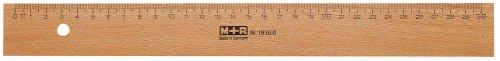 M+R 719400000 Lineal Holz 40 cm Buche Metalleinlage