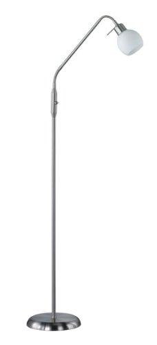 ehleuchte in Nickel inklusiv 1x E14, 4 Watt LED, zwei Flexgelenke, Höhe maximal 150 cm, Glas opal matt weiß 424810107 ()