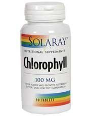 Solaray 100 mg Chlorophyll Tablets - Pack of 90 Test