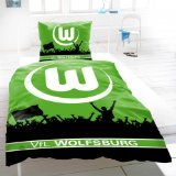VfL Wolfsburg Bettwäsche Linon 'Fans'