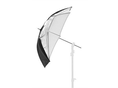 Lastolite von Manfrotto Dual Duty Regenschirm-93cm, schwarz/weiß/Silber Lastolite Studio