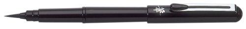 Pentel GFKPN Pocket Brush Stylo Pinceau rechargeable Encre Noire à pigments + 4 recharges FP10