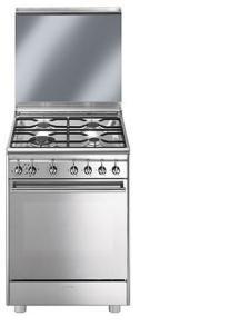 Smeg CX68M8-1 Independiente Encimera de gas A Acero inoxidable - Cocina (Cocina...