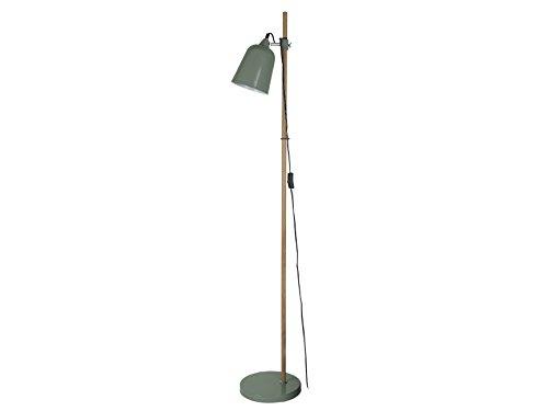 Present Time Lampe de sol Wood Like, Métal, vert, E14 25 wattsW