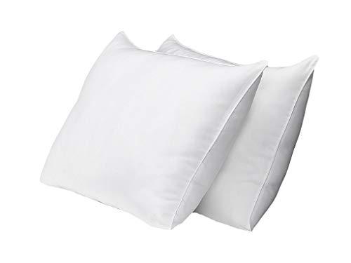 Exquisite Hotel-Kissen in Standardgröße, Weiß, Hotelkissen, Gel-Faser, Feste Gel-Kissen mit hypoallergenem, klassischem Bezug, 2 Stück 2er-Pack Standard -