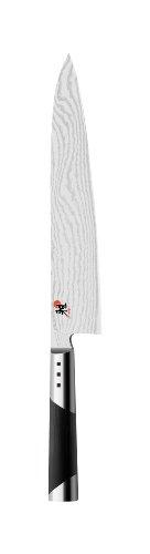 Miyabi 7000D Gyutoh Kochmesser, 240 mm Klingen, CMV60 Stahl, Damast-Design, 65 Lagen, traditioneller D-Griff, Micarta, Edelstahl