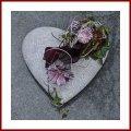 Grabschmuck Herz mit Pflanzzone Grabdekoration Pflanzherz Grabherz zum bepflanzen Trauerschmuck