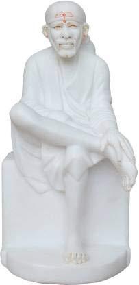 Sai Amrut Marble Sai Baba Statue Decorative Showpiece - 30 cm (Marble, White)
