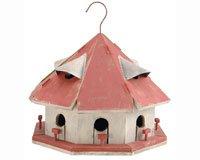 Vogelhaus Dach rot Motel