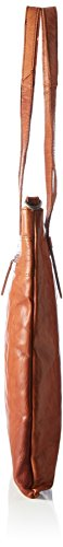 Spikes & Sparrow Damen Shopper Bag Henkeltasche, 3x40x35 cm Braun (Brandy)
