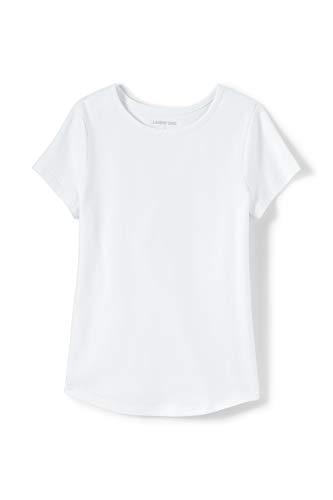 Lands' End T-Shirt aus Baumwolle für kleine Mädchen Weiß L -