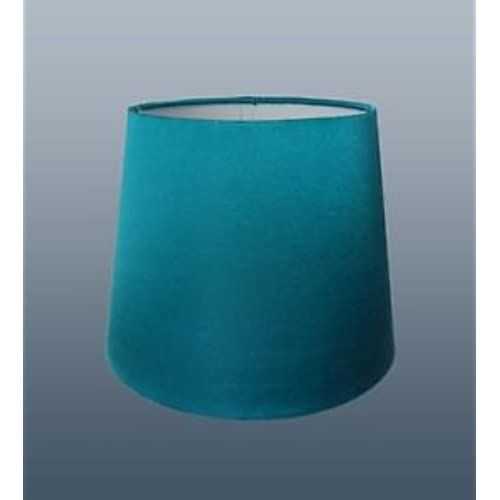 Teal lamp shades amazon 8 teal faux silk lampshade aloadofball Image collections