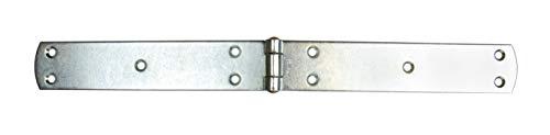 Gedotec französische Kistenbänder schwere Torbänder Ladenbänder aus Stahl | 400 x 40 mm | Torband blau verzinkt | Scharnier Materialstärke 3,0 mm | 1 Stück - Türscharnier Metall zum Schrauben