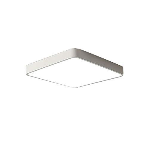 Ccsun quadrata lampada plafoniera montaggio a incasso, semplice vicino a lampada plafoniera per camera da letto sala da pranzo balcone-l:50cm(19.7 in)* w:50cm(19.7 in)-36w-1 luce bicolore