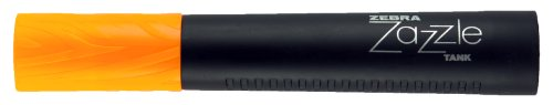 Zebra Zazzle Tank Highlighter Chisel Tip Orange Ref 43019 [Pack 12] (Zazzle Zebra Textmarker)
