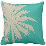 Allforyou 18 X 18 Twin Sides Bedding Pillow Case Home Decoration Square Decorative Cushion Cover Pillowcase Palm Tree Silhouette On Teal Pillowcases Palm Side Case