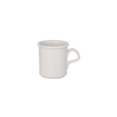 Dansk Cafe Blanc White Porcelain 12 Ounce Mug, Set of 4 by Dansk