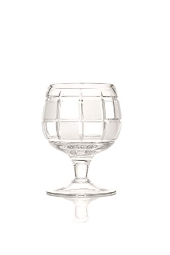 Brandy Cognac Crystal Glass, 300 ml, Set of 6, Hand Made and Cut. Gift Set
