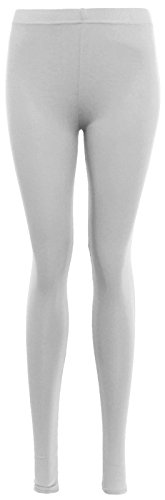 Janisramone - Legging - Leggings - Uni - Femme Noir couleur Medium Blanc