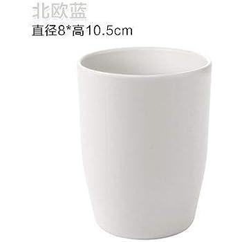 Bianco Keephic Tazza Spazzolino da Denti Filettatura Doppio Strato Bicchiere Portaspazzolino Durevole Leggero Bicchiere Porta Spazzolini Portatile Bicchiere per spazzolino da Denti