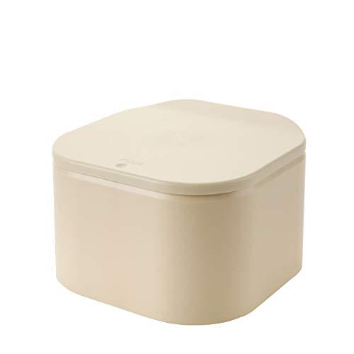 Tyoby Haushaltsmülleimer Umweltfreundlicher haltbarer Mini-Steckdeckel(Gelb)
