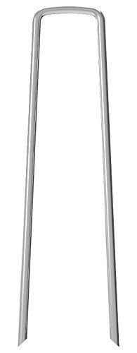 Herrman 50 Piquets de fixation en acier Galvanise agrafes de jardin 150 mm, 25 mm large, Ø 3,0 mm en forme de U traité antirouille